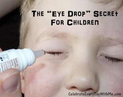Pin It As I mentioned in yesterday's post, both of my kids had pink eye last week. The doctor's orders called for 7 days of eye drops every 4 hours that they are awake. (Are you kidding me?) Have you ever tried giving young children eye drops? Let's just say that before I …