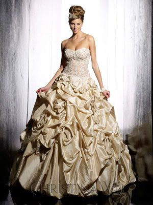 1000  ideas about Gold Wedding Gowns on Pinterest  Gold wedding ...