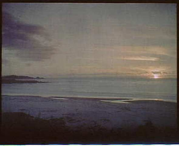 Arnold Genthe. Sunset water, California 1906. Autochrome See also