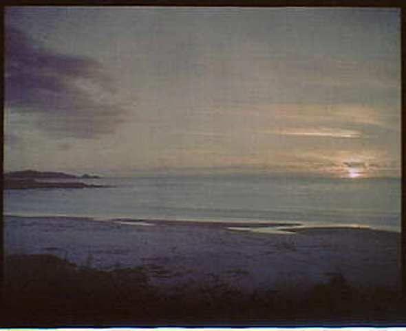 Arnold Genthe. Sunset water, California 1906. Autochrome