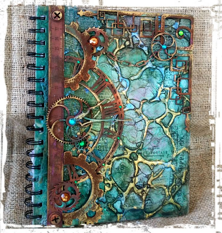 Gabrielle Pollacco Mixed Media | Mixed Media journal cover by Gabrielle Pollacco using Dusty Attic ...