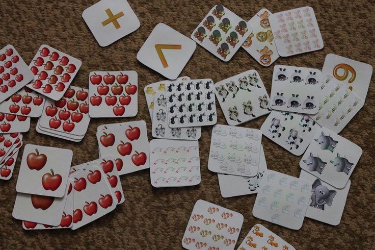 До 10 считаем хорошо, пора учить счет до 20 и осваивать первый математические навыки. Карточек со счетом до 20 я не нашла таких, чтобы меня они устраивали. Кстати, если есть у кого на эту тему что-нибудь интересное, поделитесь, пожалуйста! Но очень уж заинтересовала меня игра Вычисления...