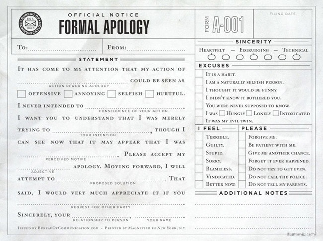 8 best Sample Apology Letters images on Pinterest About love - formal apology letters