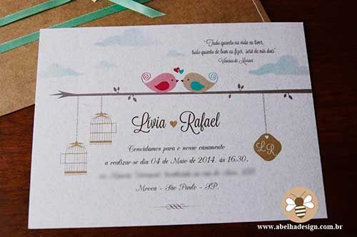 Modelos de Convites de Casamento - Convites de Casamento