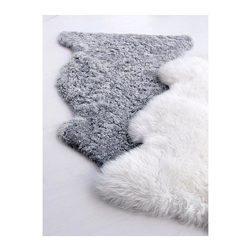 fluffy sheep skin throw rugs for texture interior design pinterest ikea sheepskin rug and. Black Bedroom Furniture Sets. Home Design Ideas