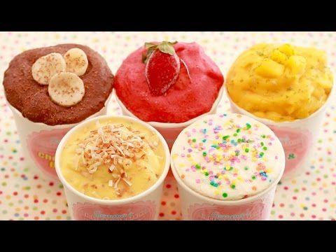 Мороженое из йогурта и ягод, фруктов