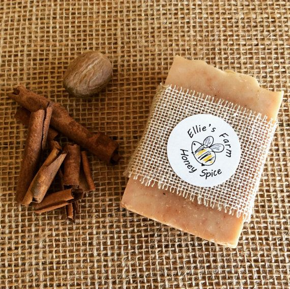 This warm, spicy natural handmade soap contains honey from my own beehives. Added cinnamon & nutmeg cleanse and moisturise your skin, and provide a gentle exfoliating action.  My range of soaps are all hand made in small batches using traditional cold process techniques, which leaves in all the natural moisturising glycerine. I only use nourishing pure vegetable oils and butters in my soaps – Coconut Oil, Olive Oil and Responsibly Sourced Palm Oil – giving a wonderfully bubbly lather and ...