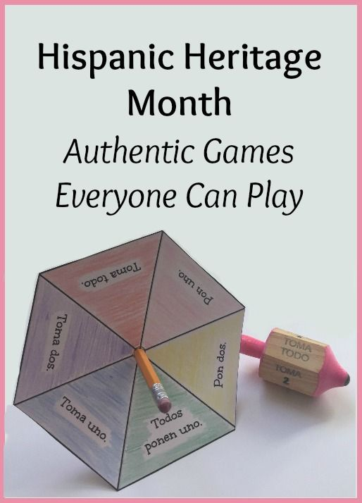 Hispanic Heritage Month games for everyone! 5 authentic games to play with only…