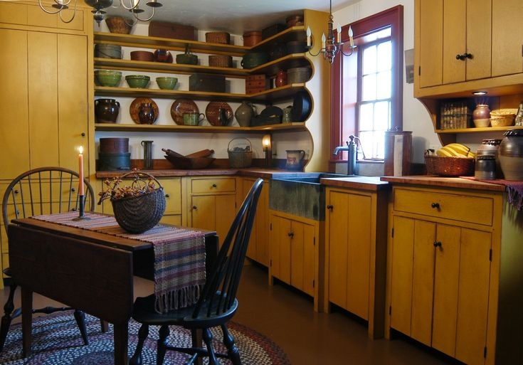 A Primitive Place Home: Kitchens Design, Open Shelves, Decor Ideas, Cabinets Colors, Primitive Kitchens, Primitive Country, Primitive Home, Primitivekitchen, Country Kitchens