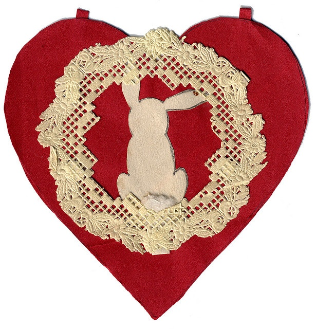 Handmade valentine, circa 1930s    purchased in Cottage Grove, Oregon