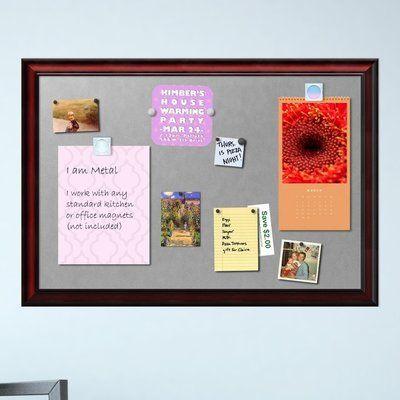 Darby Home Co Noel Framed Magnetic Bulletin Board