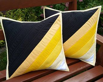 black and yellow pillowcovers
