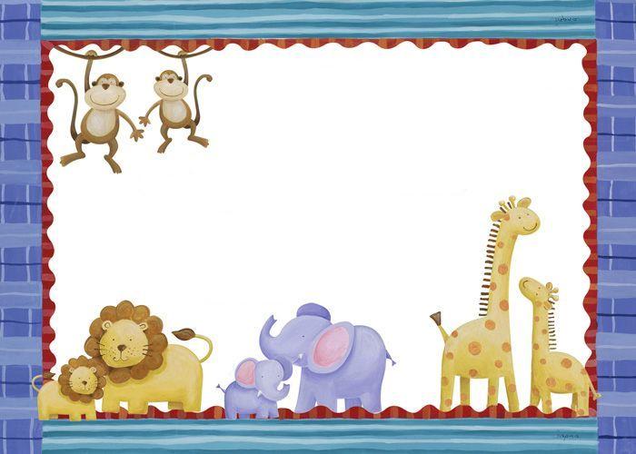 Bordes con animales para imprimir-Imagenes y dibujos para imprimir