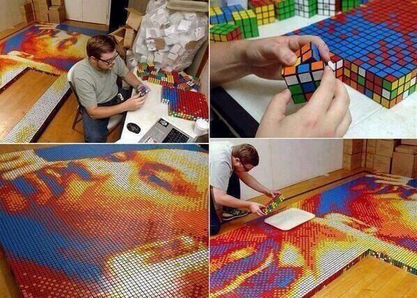 Rubiks Cube portrait