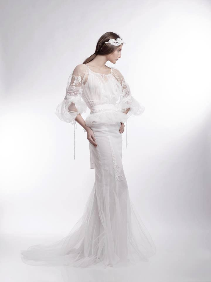 Valentina Vidrascu made a wedding dress inspired by the Romanian traditional costume
