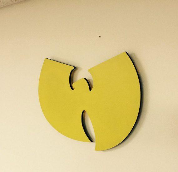 Wu Tang Clan Logo Wood Cutout - With Optional Battery Powered LED Light Kit