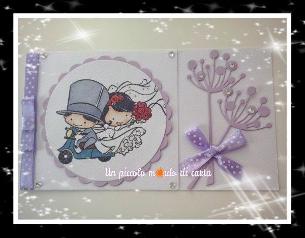 #Weddingcard #scrapbookingcard #unpiccolomondodicarta