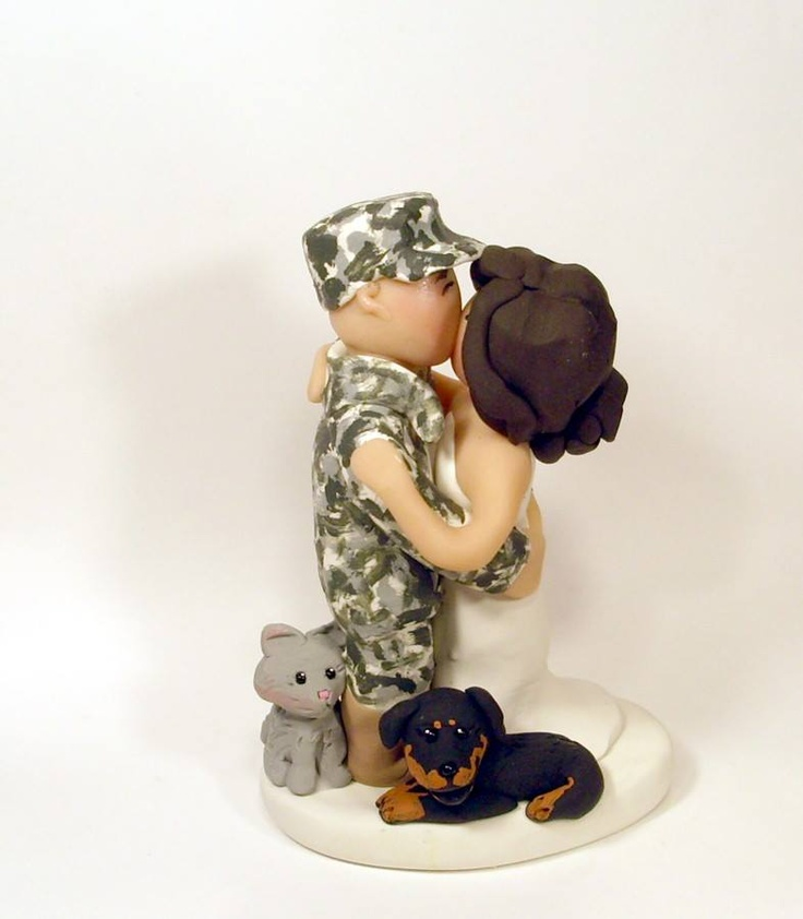 Military Wedding Cake Toppers Army