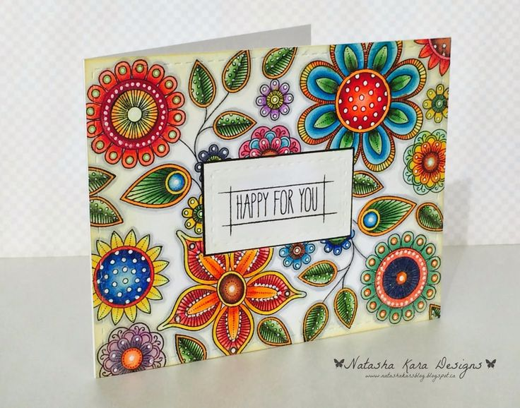 PTI Doodlie-Do: I dream in color: Clean and simple day 3 take 2 (From the look of this card, the artist definitely dreams in color!)