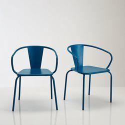 fauteuil mtal jardin lot de 2 oblice la redoute interieurs salon de - Salon De Jardin Mtal Color