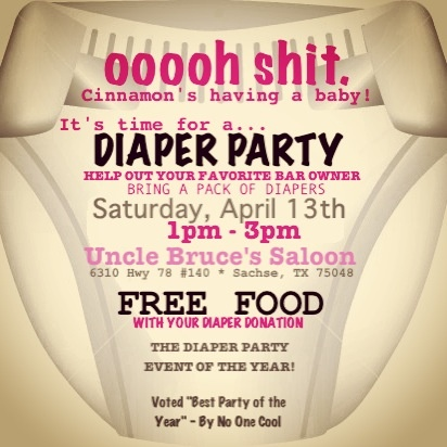 Funny Baby Shower Invitation Diaper Party Roberts Parties Invitations