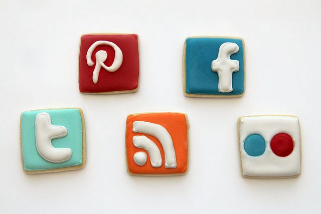 Follow me.   Creative cookies. Social media.