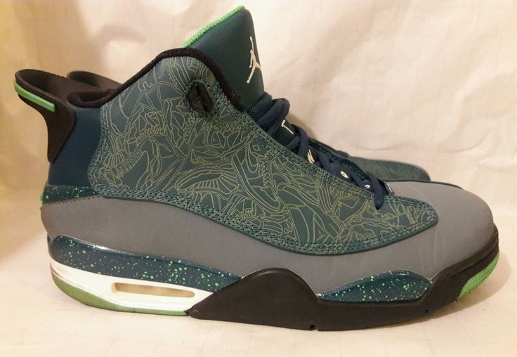 ... 2015 Nike Air Jordan Retro Dub Zero SZ 12 Teal Green Spark Blue Black  311046- ... 6cc8c984a92f
