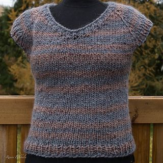 Super Bulky Yarn Basic Top-down Vest