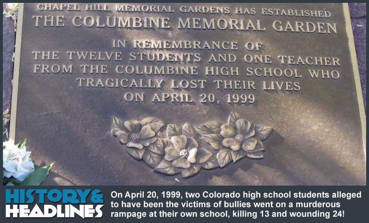 April 20, 1999: Columbine High School Massacre! - http://www.historyandheadlines.com/april-20-1999-columbine-high-school-massacre/