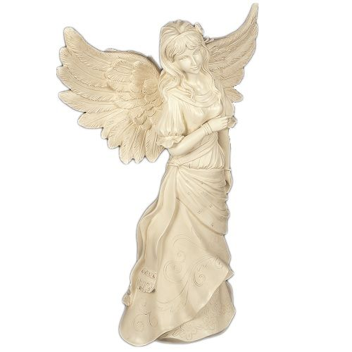The Blessing Angel Garden Statue is made from high quality polystone. The delicate details and gorgeous antique color make this piece perfect for any setting, whether its indoors or outdoors. Memorial gardens are beautiful tributes to loved ones that have gone from earth, but are here in our hearts.