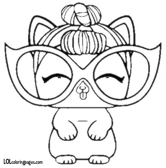 fancy haute dog lol coloring page