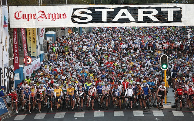 Cape Argus Cyle Race the world's largest individually timed cycle race.