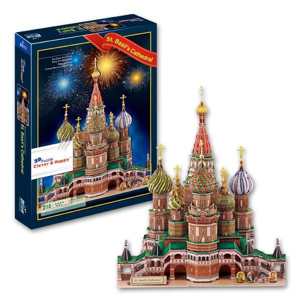 3D Architecture Jigsaw Puzzle difficult model paper diy educational popular