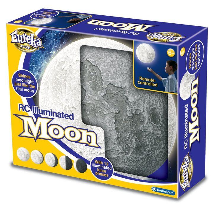 Φωτιστικό Με Τα Φάσεις Της Σελήνης RC ILLUMINATED MOON Απλίκα δωματίου