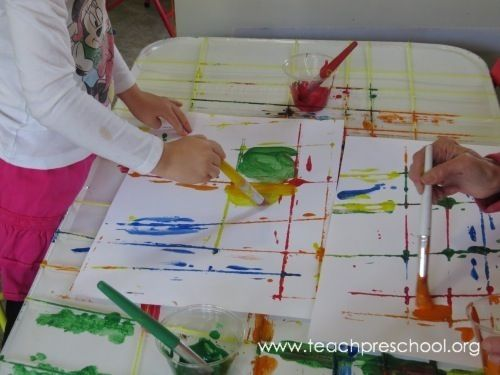 yarn painting preschool - photo #10