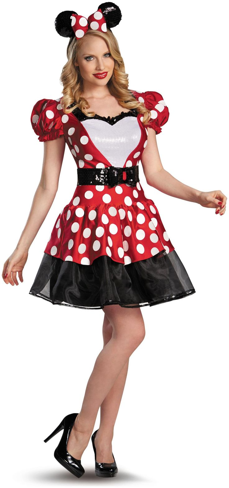 PartyBell.com - Glam Red Minnie Adult Costume