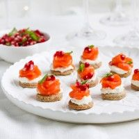 Regal Smoked Salmon, Labne and Pomegranate Canapés