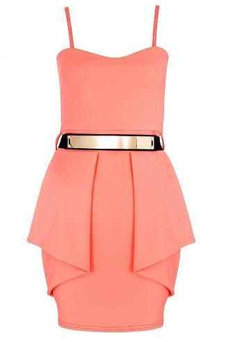 Womens coral dress from Quiz - £24.99 at ClothingByColour.com