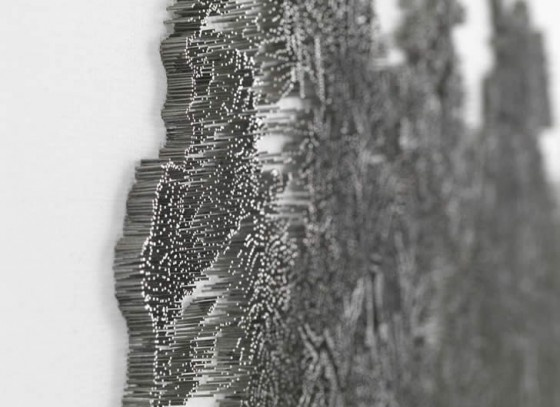 Chinese kunst nagemaakt met een schiethamer