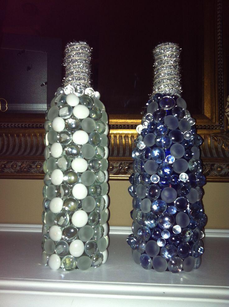DIY light up wine bottles