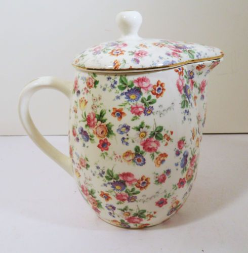 DORSET-CHEERY-CHINTZ-FOR-ERPHILA-CHINA-GERMANY-36oz-TEAPOT-PITCHER-W-LID