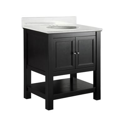 Gazette 31 inch bath vanity combo.  Home Depot SKU 1000-682-402. 599$.  Pre-assembled.