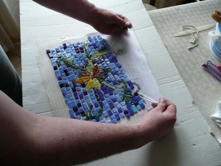 Feuille plastique transparente pour mosaique 32*32 cm par 10