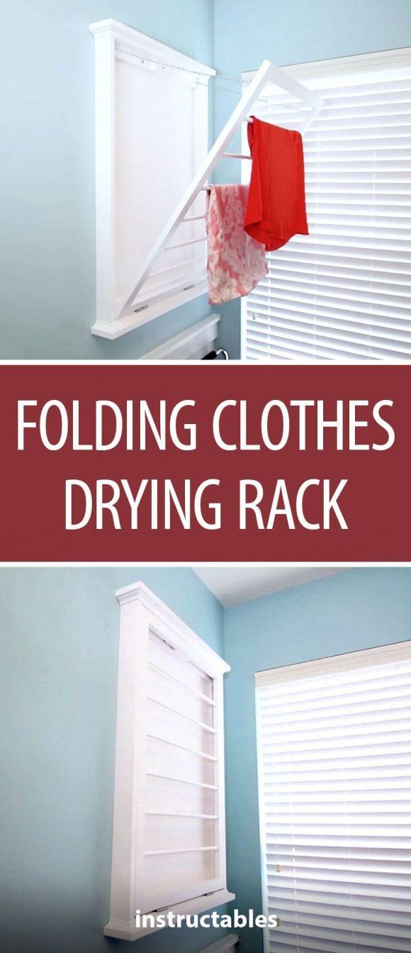 Folding Clothes Drying Rack Woodworking Decor Laundry Storage Organization Folding Clothes Folding Clo In 2020 Mit Bildern Kleidung Falten Holzbearbeitungs Projekte Design