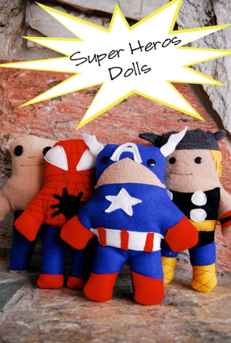 Make Super Hero dolls, with free pattern
