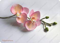 Флористика искусственная 8 марта Выпускной Свадьба Моделирование конструирование Орхидея из фоамирана Фоамиран фом фото 1