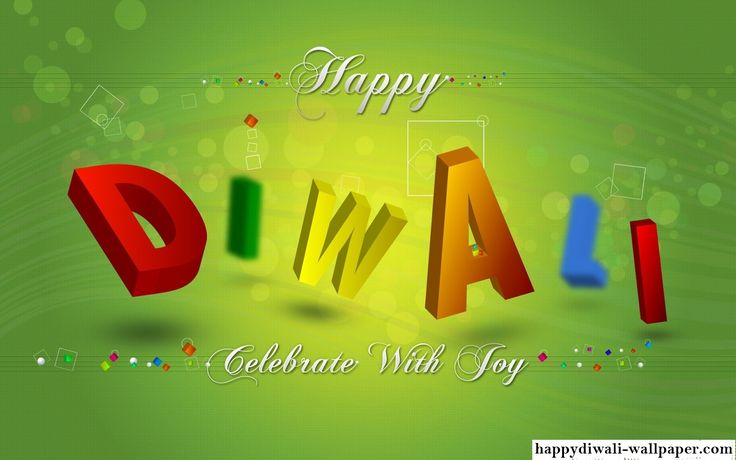 Happy Diwali Colorful 3D Wallpaper 2015