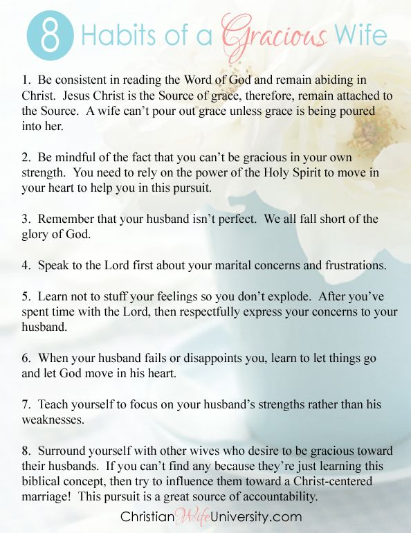 8 Habits of a Gracious Wife by Jolene Engle pdf that you can print out if you'd like! Live a poured out life for Christ,