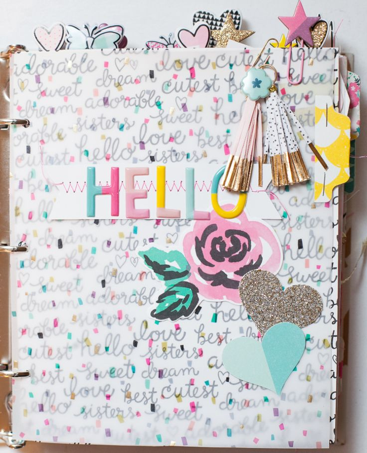 Create a Mini Album using the Cute Girl Collection