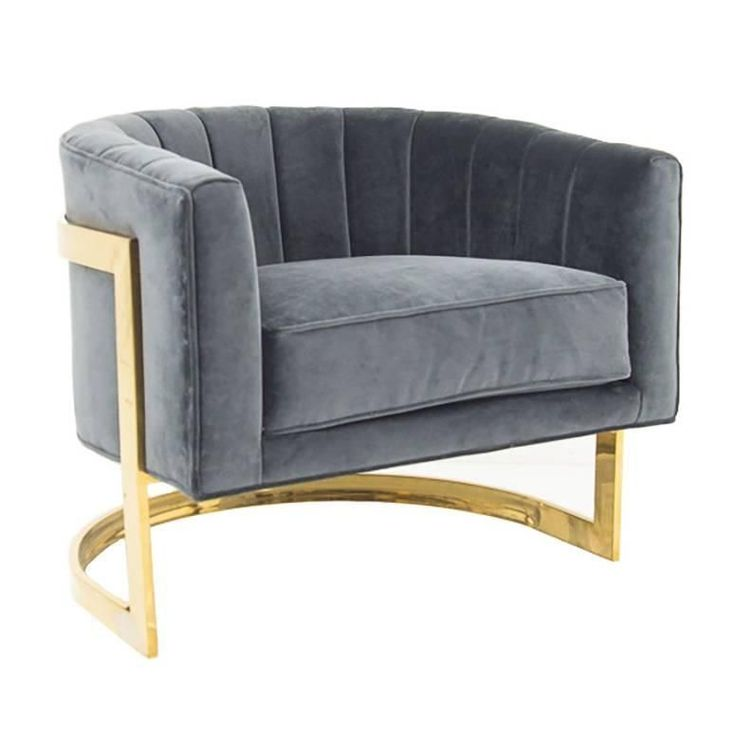 Art Deco Styled Armchair with Brass Frame | From a unique collection of antique and modern armchairs at https://www.1stdibs.com/furniture/seating/armchairs/